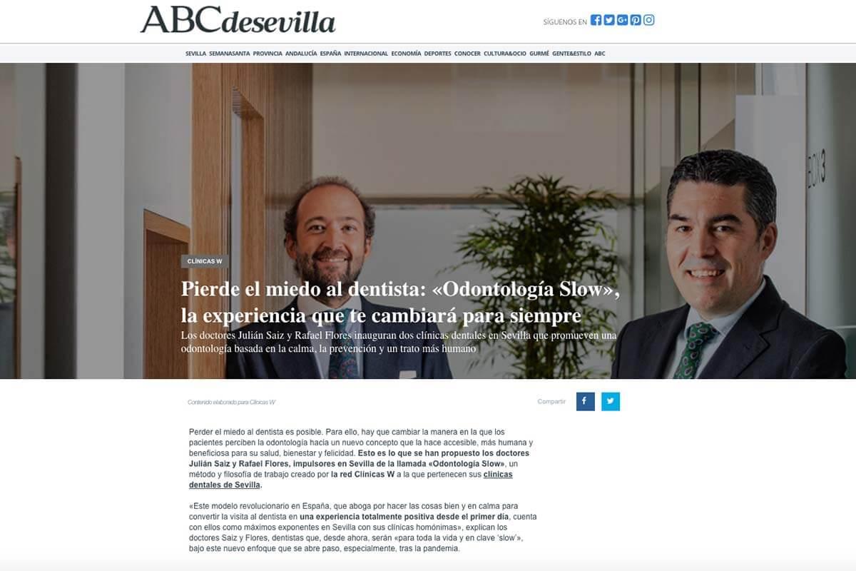 Julián Saiz y Rafael Flores en el periódico ABC.